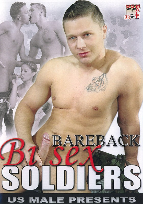 Bareback Bi Sex Soldiers DVD - Front