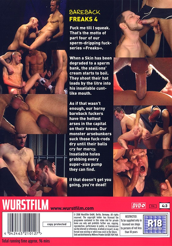 Bareback Freaks 4 DVD - Back