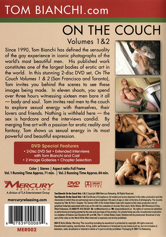 On The Couch volumes 1 & 2 DVD - Back