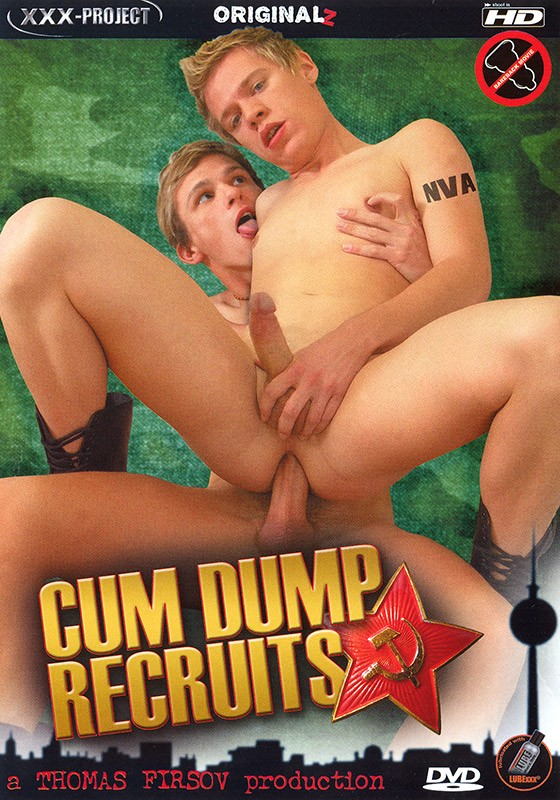 Cum Dump Recruits DVD - Front