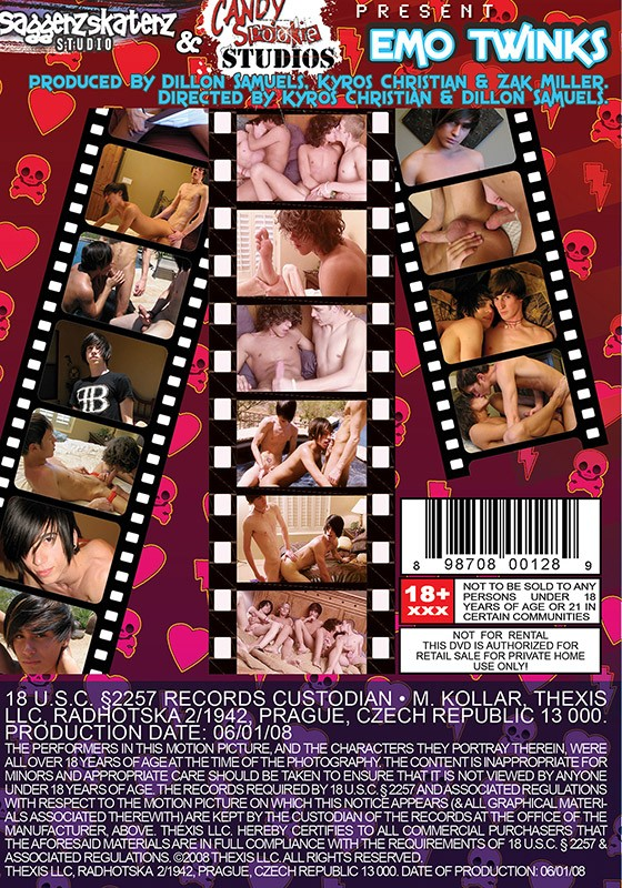 Emo Twinks DVD - Back