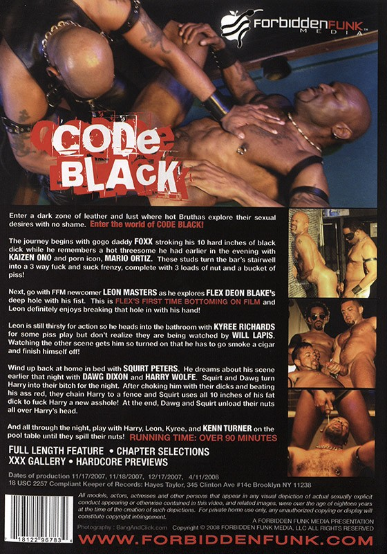 Code Black DVD - Back