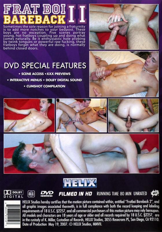 Fratboi Bareback 2 DVD - Back