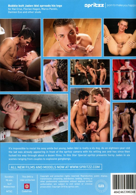 Jaden Idol: A German Bottom Boy DVD - Back