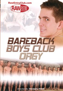 Bareback Boys Club Orgy DVD - Front