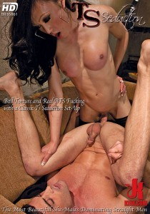 TSS028 - Ball Torture and Real BTS Fucking with a Classic TS Seduction Set-Up DVD (S)
