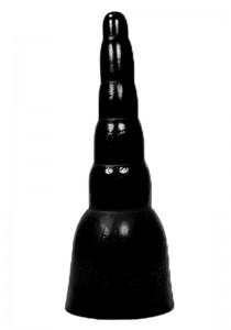 All Black AB18 Dildo - Front