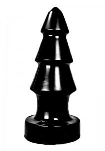 All Black AB57 Dildo - Front