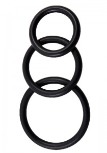 Perfect Fit Silicone 3 Ring Kit Mix - Black - Front